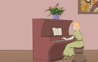Chiec dan Piano mau gu do