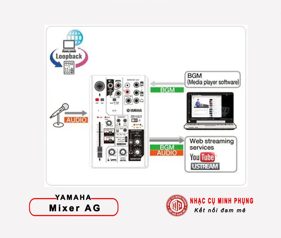 Live stream voiws AG03 mixer yamaha