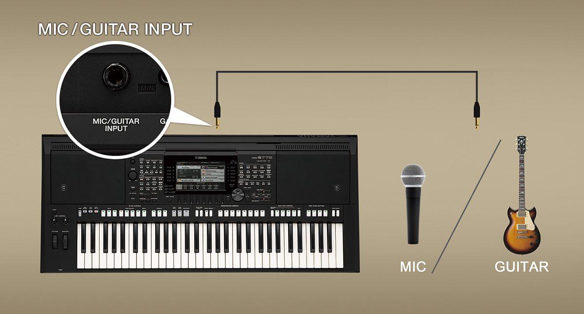 Đàn Organ Yamaha PSR S775 hỗ trợ tốt cho ca sĩ và nghệ sĩ ghi ta