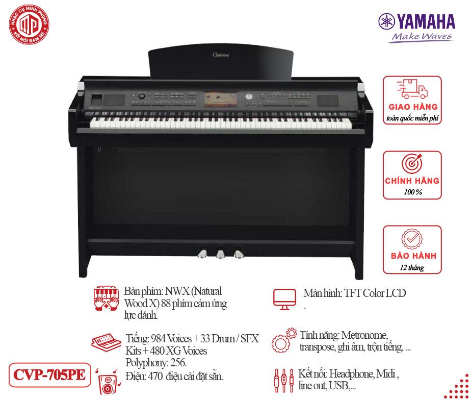 Đàn Piano Điện YAMAHA CVP 705PE