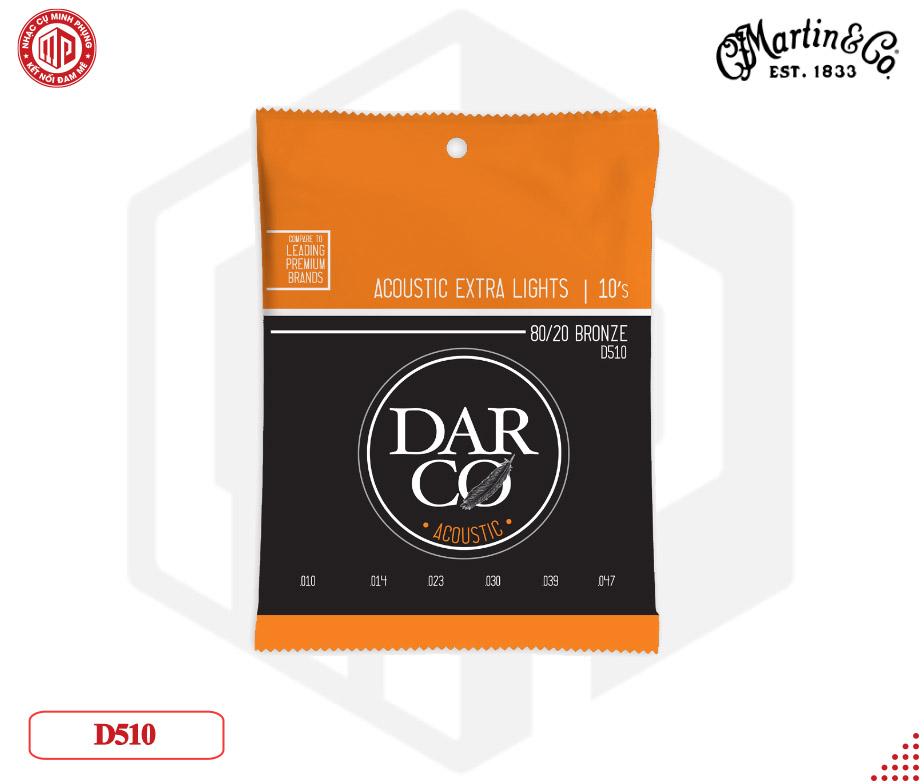Dây đàn guitar Acoustic Martin Darco 80/20, Extra Light D510