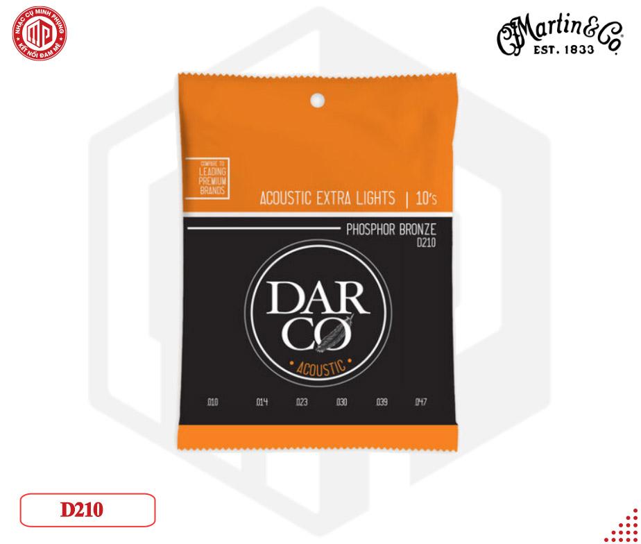 Dây đàn Guitar Acoustic Martin Darco 92/8, Extra Light D210