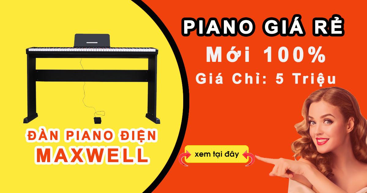 Đàn piano điện maxwell Max100 là dòng đàn piano điện giá rẻ dành cho người mới bắt đầu.