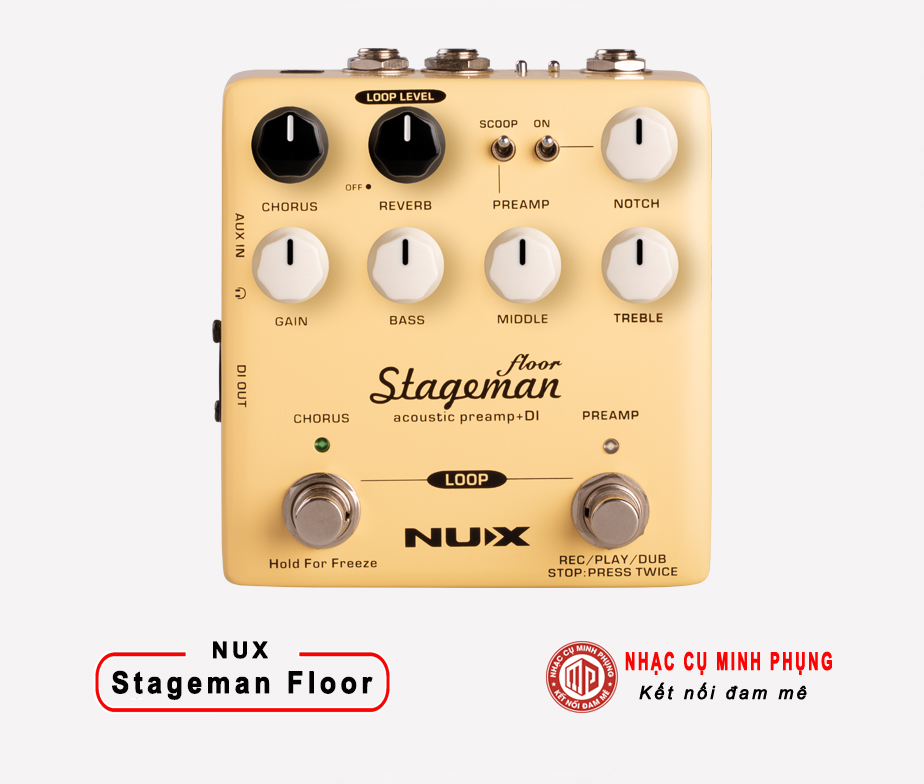 Effect Nux Acoustic Preamp & DI Stageman Floor