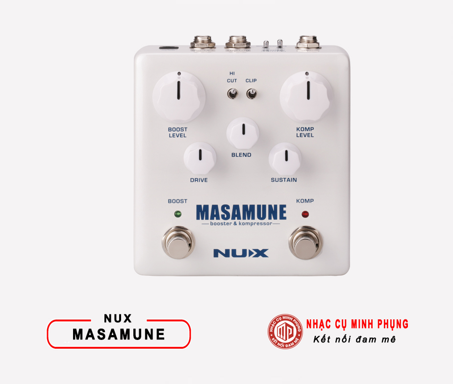 Overdrive Pedal Nux Scream Bass