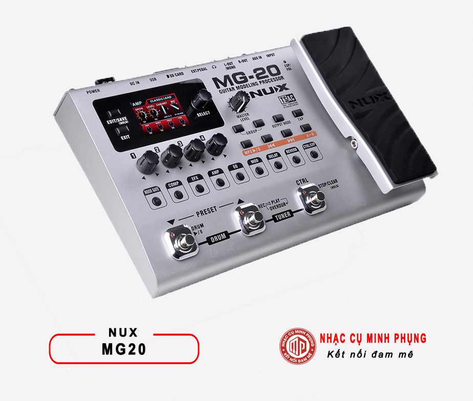 Phơ Guitar (Multi Effects) Nux MG-20