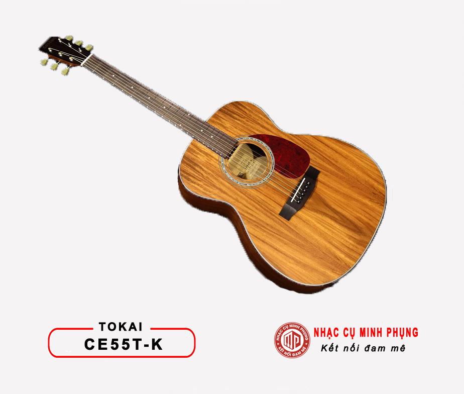 Đàn Guitar Acoustic Tokai CE55T-K