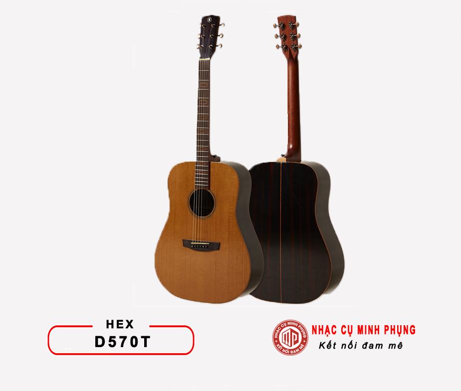 ĐÀN GUITAR ACOUSTIC HEX D570T