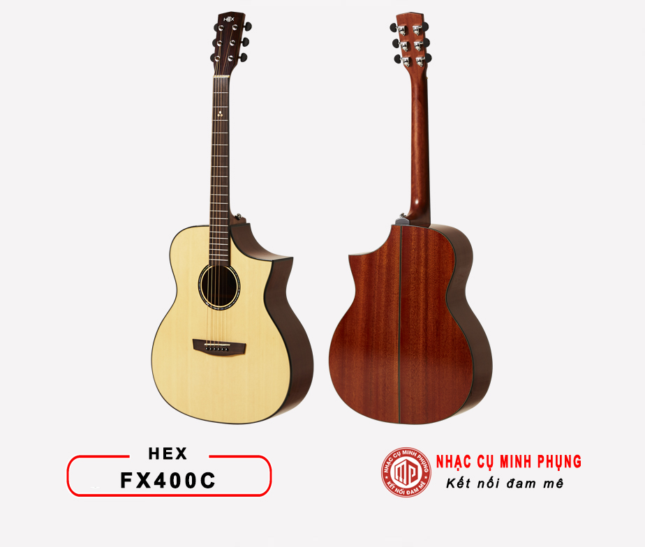 ĐÀN GUITAR ACOUSTIC HEX F400C