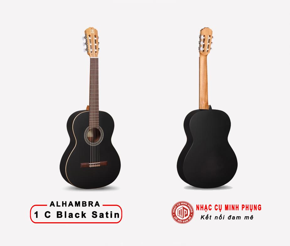 Đàn Guitar Classic Alhambra 1 C Satin Đen