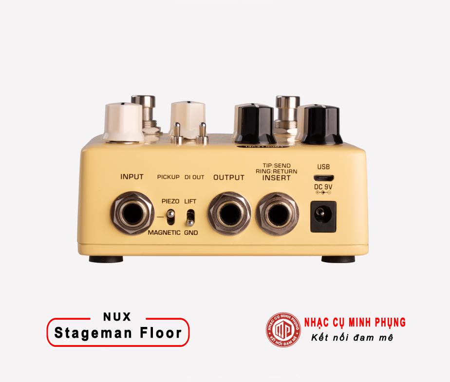 Effect Nux Acoustic Preamp & DI Stageman Floor