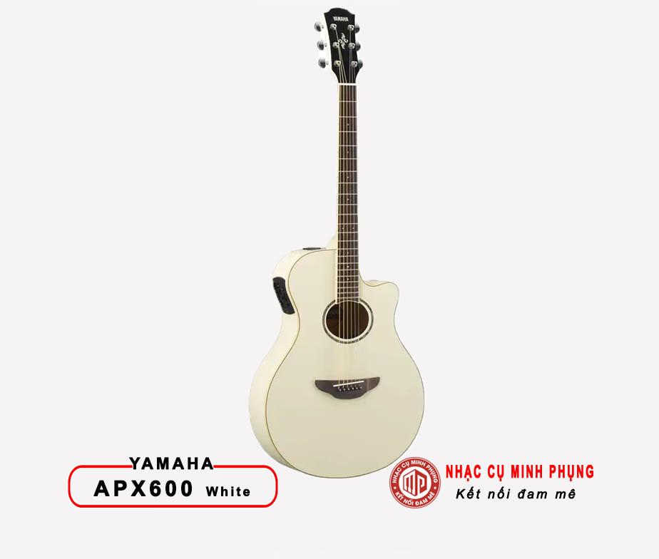 Đàn Guitar Acoustic Yamaha APX600  VINTAGE WHITE