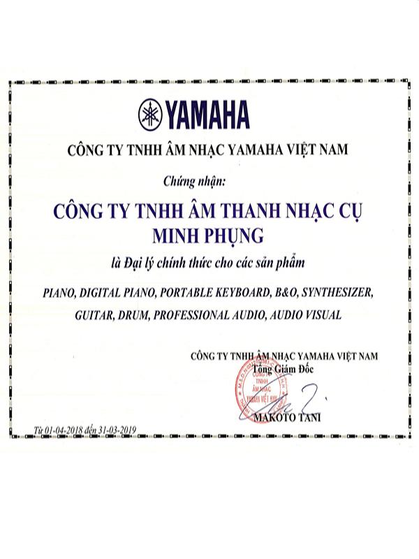 chứng nhận yamaha