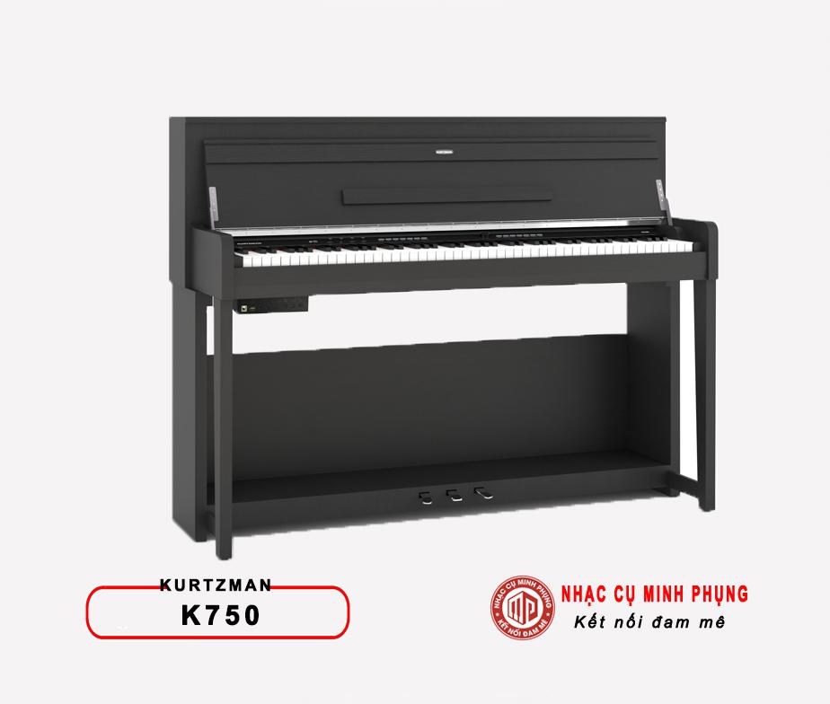 Đàn piano điện Kurtzman K750 có thiết kế nhỏ gọn đẹp mắt