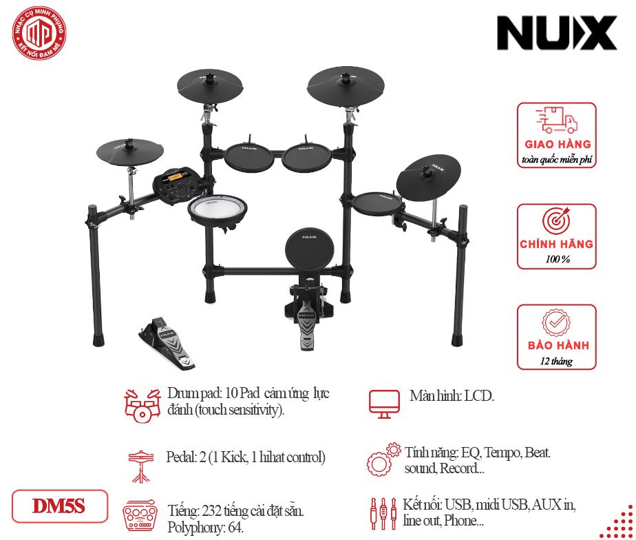 Trống điện tử Nux DM5S