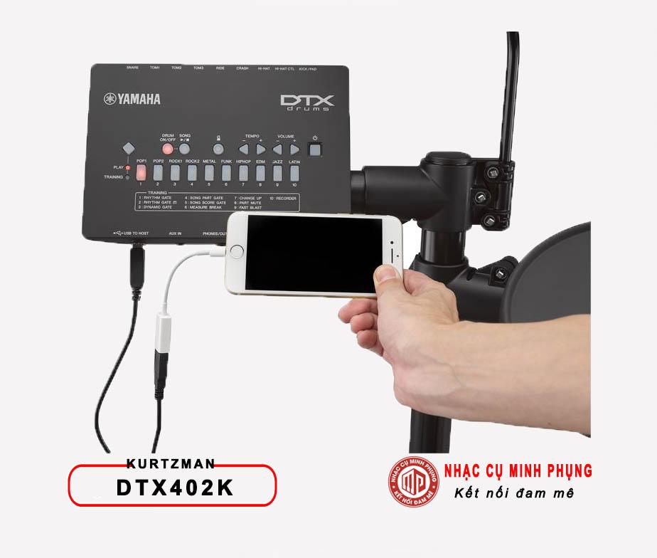 Trông điện tử Yamaha DTX402K (Bộ)