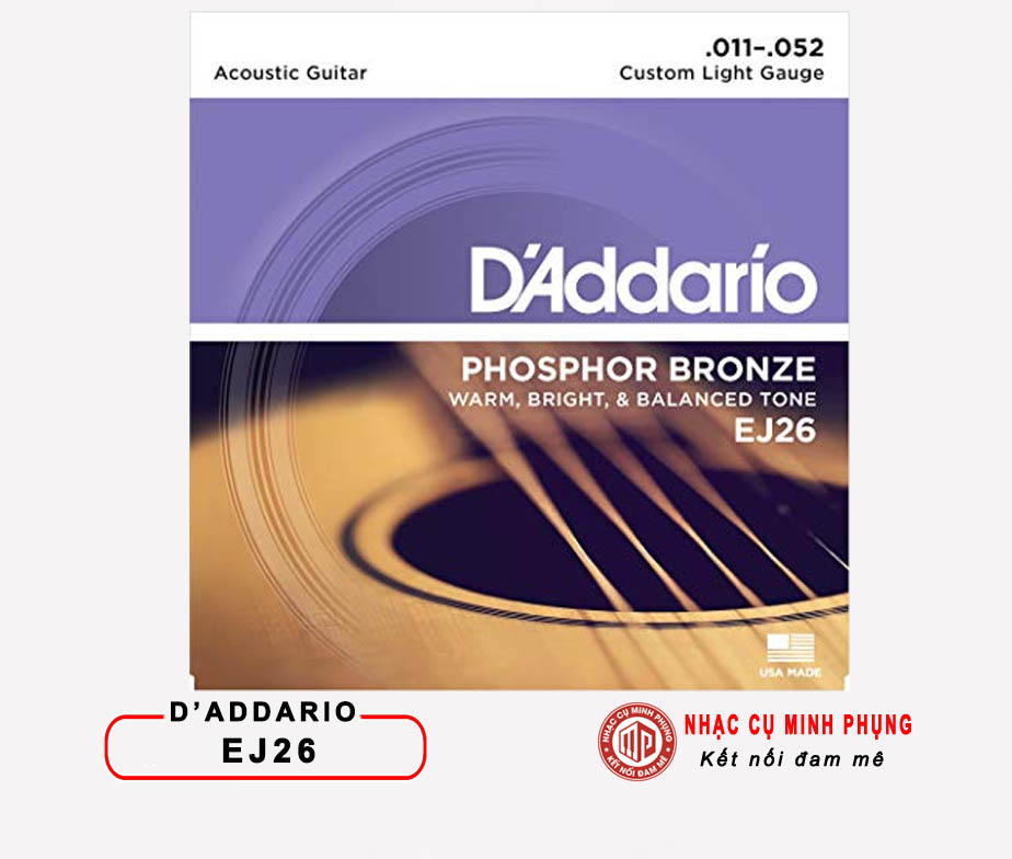 Acoustic Guitar Phosphor Bronze DAddario EJ26