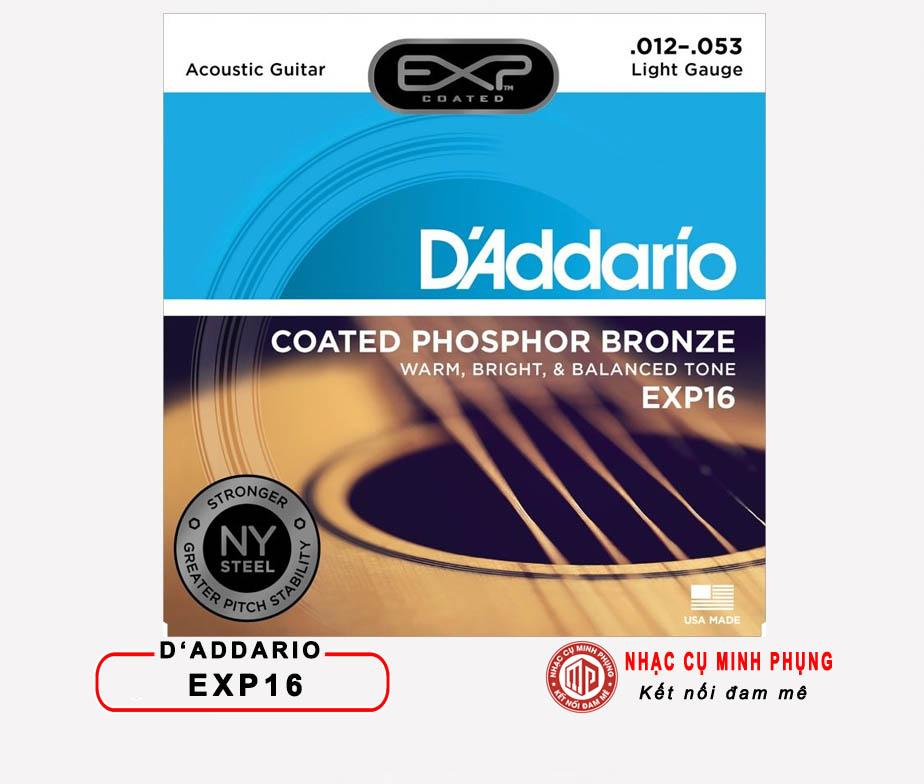 Dây Guitar Acoustic D'ADDARIO EXP16