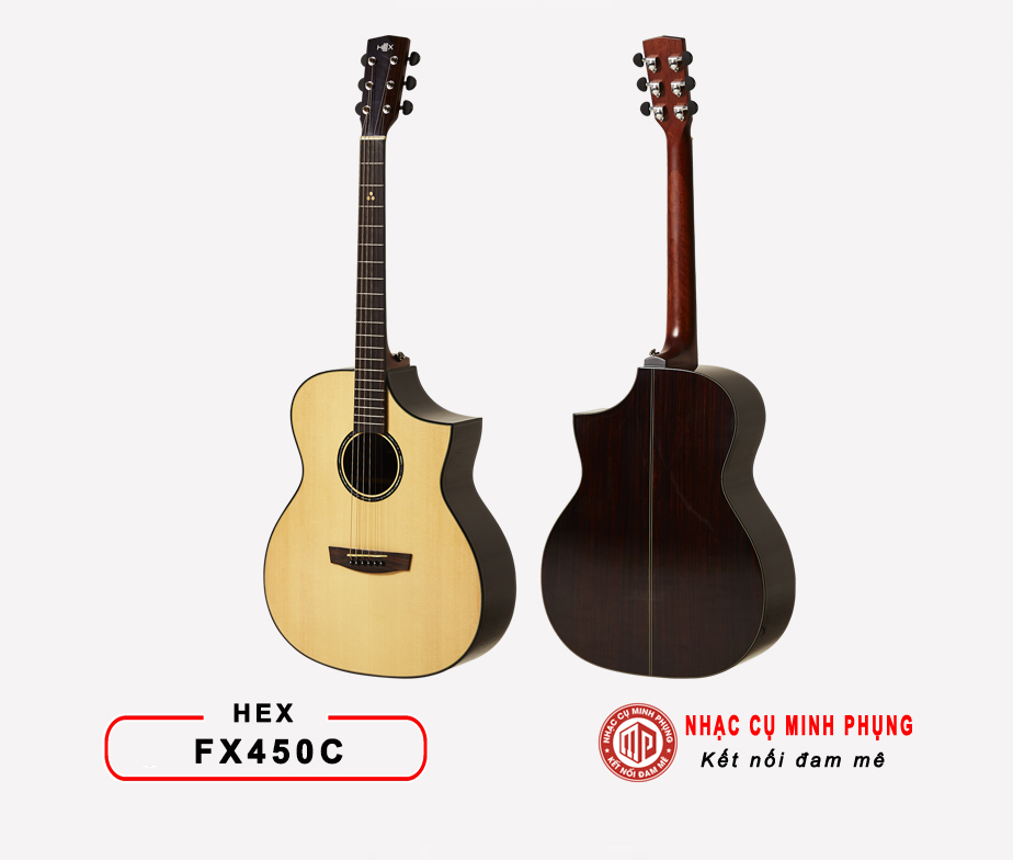 Đàn guitar acoustic Hex FX450C