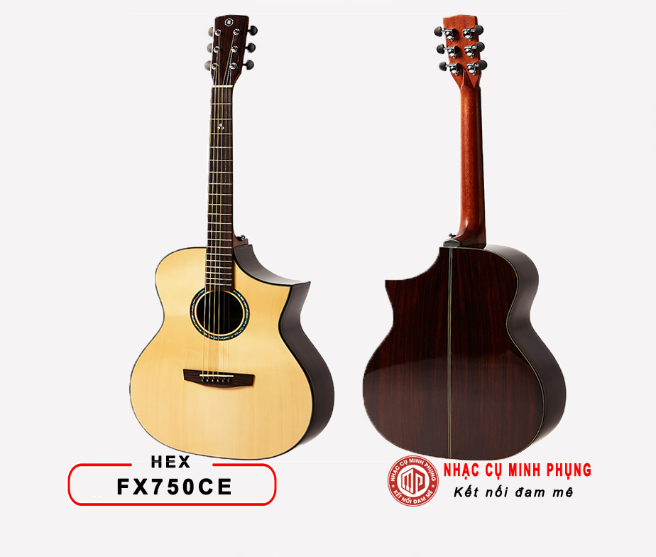 Đàn Guitar Acoustic HEX FX750CE