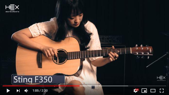 HEX Guitars Sting F350 Sound Sample Movie