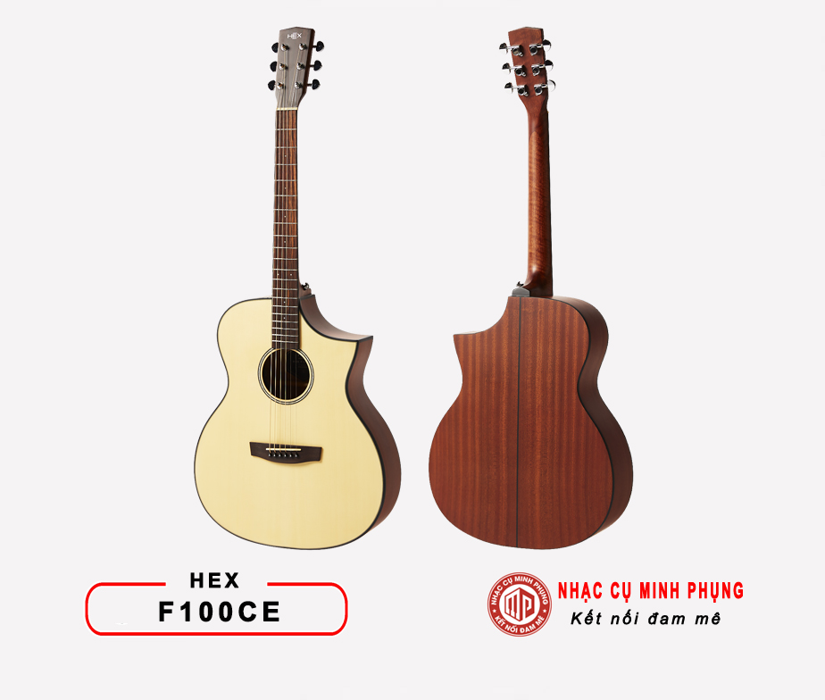 Đàn guitar acoustic Hex F100CE