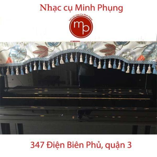 Khăn phủ đàn Piano cơ - Ren xanh