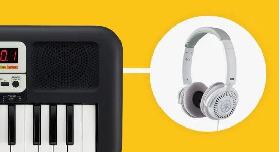 Organ PSS F30 kết nối headphone