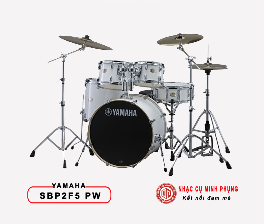 Trống cơ Yamaha SBP2F5 PURE WHITE