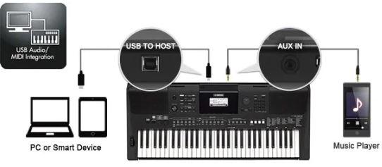 thiết bị kết nối đàn Organ E463